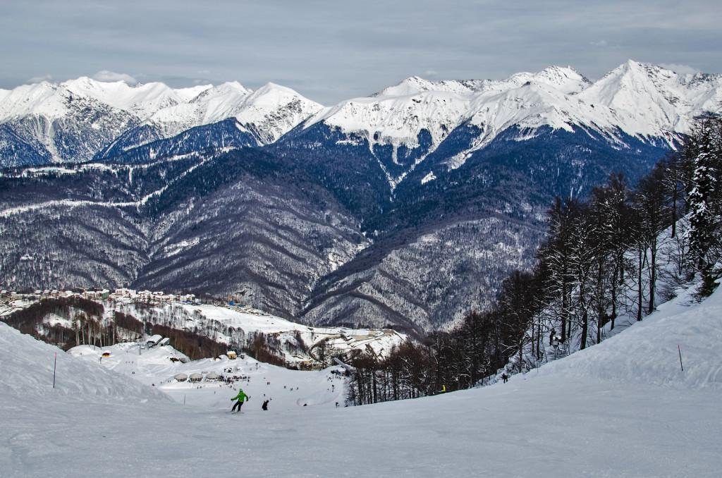 bigstock-Olympic-Ski-Trail-Rosa-Khutor--55854386