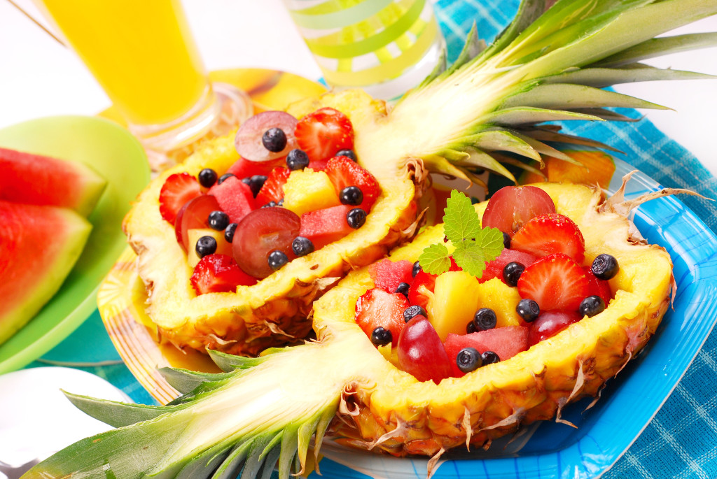 Fruits Salad In Pineapple