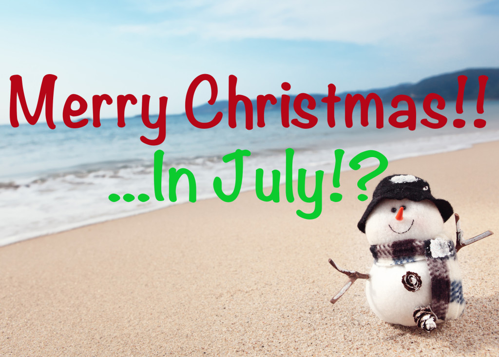 Snowman on the beach,Christmas concept.