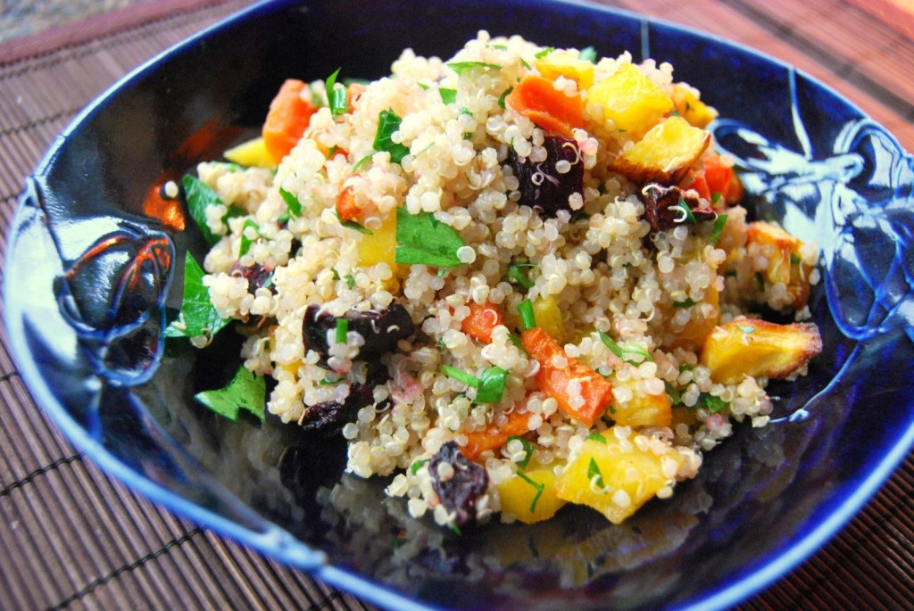 autumn roasted vegetable quinoa salad